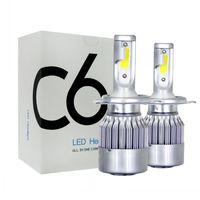 Wholesale car lights bulbs for sale - Group buy C6 LED Car Headlights W LM COB Auto Headlamp Bulbs H1 H3 H4 H7 H11 Car Styling Lights