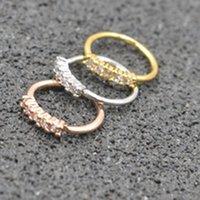 Wholesale 18g lip jewelry resale online - LOT50pcs CZ Gems g Lip Labret Studs Earring Helix Diath Ring Nose Rings Hoop Earring body piercing jewelry NEW