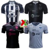 Wholesale Pinks Jerseys - 2017-18 Monterrey Home Away Third Pink Futbol Camisa Soccer Jerseys Rayados Football Camisetas Shirt Kit Maillot Liga MX