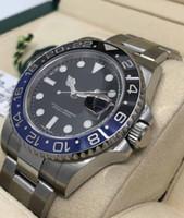 blue sapphire venda por atacado-Mens Luxo Top Quality 2813 Movimento Preto azul Cerâmica Bisel Sapphire 40mm 116710blnr 116710 Mens Mens Automatic Luminous Relógios