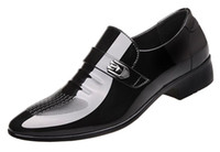 zapatos de traje formal al por mayor-Zapatos de vestir de negocios de cuero de la PU para hombre de Monk Strap Toe Slip On Suit Formal Prom Shoes