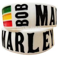 um pulseira de amor venda por atacado-300pcs uma polegada Bob Marley One Love pulseira de silicone pulseiras frete grátis por FEDEX