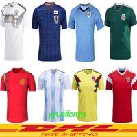 Wholesale germany wholesale - 2018 Germany World Cup soccer Jersey OZIL REUS Argentina Messi MEXICO 18 19 england SOCCER JERSEYS Uruguay Spain DRAXLER football shirt