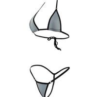 roupas de banho de biquíni transparentes venda por atacado-Biquíni Femme Mulher Extrema Transparente Mini Micro Swimsuit Ver Através Hipster Senhora Swimwear Sexy Beachwear Lingerie de Banho 7zs V