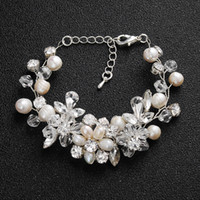 Wholesale pearl crystal bracelets for sale - Group buy 2019 Latest Bridal Jewelry Bracelet For Wedding Party Bridesmaid Baroque Chic Crystals Pearls Rhinestone Handmade Prom Cocktail Masquerade