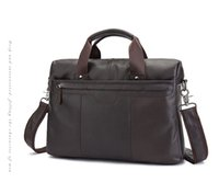 Männer Echte Crazy Horse Leder Antiken Stil Aktentasche Business Laptop Fall Attache Messenger Bag Tote Portfolio