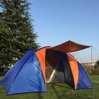палатки один оптовых-Новая модернизированная гостиная с двумя спальнями Одна многоместная двухместная палатка для палаток с открытыми дверями Карпа-де-кемпинг Namiot Tendas De Campismo