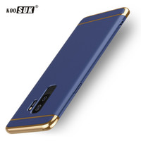 Wholesale Cover For Galaxy S Phone - For Samsung S9 S9+ Plus Case Back Cover For Samsung Galaxy S 9 Plus PC Hard Phone Case Coque Gold Plated Protective Shell