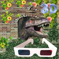 бумага для 3d-очков оптовых-Paper Frame Red Blue 3D Glasses For Dimensional Anaglyph Movie Game DVD Universal 3D Movie Game Video TV phone tv