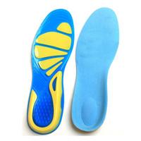 kissen gummifedern großhandel-Frühling und Sommer Silikon-Gummi-Sport-Einlegesohle und Militär-Einlegesohle Sport Running Gel-Einlegesohlen-Einsatz-Kissen für Männer Frauen