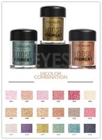 Wholesale eyeshadow loose pigments - Dropshipping Focallure Brand Glitter Eyeshadow Powder 18 colors Makeup Loose Shimmer Eye shadow Pigment 3D Nude Metallic Cosmetics Make up
