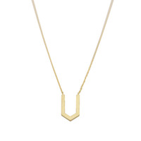 Wholesale simple drawings - Fashion V pendant necklaces Drawing on the surface of the v shaped geometric pendant necklaces Charmof a simple style necklaces