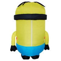 Wholesale Minions Costumes - Halloween Funny Party Dress Costume Adult Minion Inflatable Minion Costume Mascot Minion Costume Carnival Male Female LJ-024