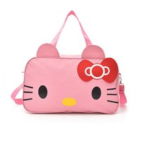006852bb0dff CAD  34.45. Cute Hello Kitty PU Women Leather Handbags Female Black Cartoon Shoulder  Bag For Girls Casual Large Capacity Travel Tote Bag