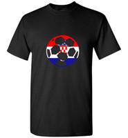 футбольные майки оптовых-Хорватия футбольный мяч флаг Джерси рубашка-хорватский футбол с коротким рукавом плюс размер скидки горячая новый топ бесплатная доставка футболка