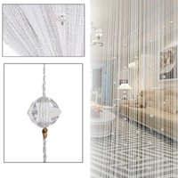 Wholesale string crystals beads resale online - Polyester Tassel Curtain Crystal Beads Tassel Silk String Curtain Window Door Divider Sheer Curtains Valance Door Windows Panel Curtain