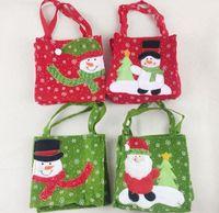 Wholesale kid s handbag for sale - Group buy Christmas Gift Candy Bags Santa Claus Candy Bag Handbag Home Party Decoration Xmas Kids Gift Bag
