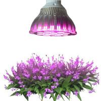 büyüyen ışık sistemi toptan satış-E27 Sera led büyümek ışık 15 W 21 W 27 W 36 W 45 W 54 W LED Büyümek Lamba bitkiler için Çiçek Bitki orkide fidanları Topraksız Sistemi