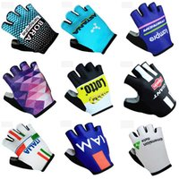 Wholesale Astana Cycling Team - ASTANA BORA CINELLI 2018 TEAM new Gloves Cycling Outdoor Racing Wear-resistant Bike gloves with Gel pads C2013