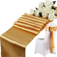 Wholesale FC4908 Satin Table Runner cm cm Table Centerpieces Wedding Decoration Supply Party Decor Decoration Cloths Tablecloth Holiday Christmas