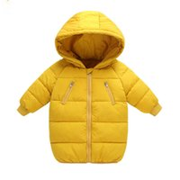 winter parkas for kids Canada - Winter Parka Children Fashion Boy Baby Clothing Autumn Long Jackets For Boys 6 7 8 Years Nice Kids Outerwear Red Coat For Girls