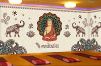 Wholesale Figure Wallpaper - Thailand Yoga 3D Mural Joss figure of Buddha Photo Murals 3D WALLPAPERs for Wall Art Wall Paper Wallcovering papel parede rolo