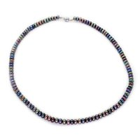 Wholesale beaded necklaces for sale - 2018 Fashionable freshwater pearl jewelry natural freshwater black pearl magnet buckle necklace feminine charm jewelry