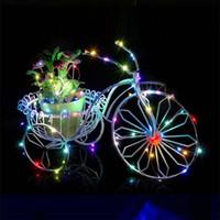 bateria portátil luz de natal venda por atacado-10 M 100 leds LED String Light 3XAA Bateria Operado Luz portátil Luzes de Fadas Natal Decoração de Casamento Ano Novo luzes