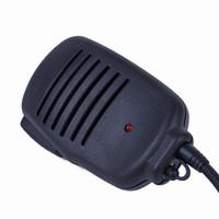 Wholesale accessories speakers online - New PIN Handheld Microphone Speaker With LED Light for Motorola Two way Radio GP88 GP300 GP2000 P040 PRO1150 Radio Microphone