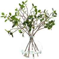 escritorios para la venta al por mayor-Mini flores de simulación creativa plantación verde Aglaia Odorata para la decoración del escritorio del hogar decoración de flores artificiales venta caliente 3 8hq z