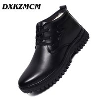 Wholesale handmade dress shoes for men for sale - Group buy DXKZMCM Handmade Men Genuine Leather Winter Boots Wool Warm Snow Men Boots Ankle For Business Dress Shoes