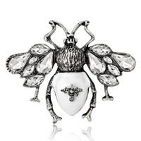 ingrosso accessori di tulipano-Young Tulip 2018 New Vintage Butterfly Pins Spilla di cristallo Gioielli di moda per le donne D-suit Jeans Accessori di alta qualità
