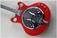 Wholesale dobro guitar resale online - Factory GYDR Custom handcrafted red color rosewood fretboard maestro brand Dobro Resonator electric Guitar