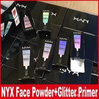 Wholesale nyx eyeshadow primer online - NYX Glitter Primer Cream Concealer Cream NYX Glitter Face and Body Shimmer Powder colors Eyeshadow Powder