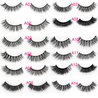 Wholesale Left Hand Wholesalers - MIXED STYLES PLS LEAVE MESSENGE 3d mink hair lashes eyelashes ADD private logo various styles custom package makeup 3D mink hair lashes