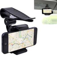 gps güneş güneşlik toptan satış-Evrensel Cep Telefonu Araç Tutucu 360 Güneşlik Cep Telefonu Tutucu Standı iPhone 6 s X 5 7 Artı Samsung huawei Cep Desteği
