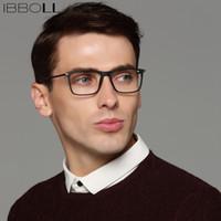 gafas de plástico de moda al por mayor-ibboll vidrios ópticos hombres retros marco de las lentes transparentes para hombre 2018 Moda de plástico Eye Glasses Gafas Marcos S6070