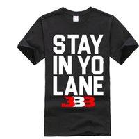 Wholesale Red Stay - 2018 STAY IN YO LANE T-shirt big baller brand t-shirt