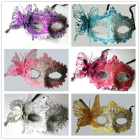 Wholesale men masks for sale - Lady Halloween Butterfly Face Maks Masquerade Costume Women Three Dimensional Half Fales Mask Fashion Hot Sale 2 4gl Ww