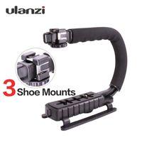 estabilizador de cámara para dslr al por mayor-Ulanzi 3 Shoe Mounts Video estabilizador Handheld Grip para cámaras de acción Hero para iPhone Xiaomi Smartphone DSLR