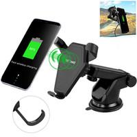 araba not defterleri toptan satış-IPhone X 8 Artı Qi Araba için Kablosuz Hızlı Şarj Telefon Tutucu Hava Firar Tarzı Kablosuz Araç Şarj Pad Samsung S7 kenar S8 Artı Not 8