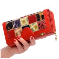 Wholesale travel for sale - 2018 Brand Fold Genuine Leather Women Wallets Coin Pocket Female Clutch Travel Wallet Portefeuille femme cuir