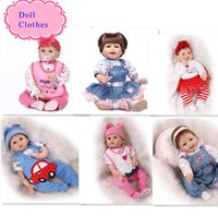 Wholesale Girl Different Dress - 15 Different Styles Good Price 55m 22 Inch Silicone Reborn Baby Doll Clothes Hot Sale Dolls Accessories For DIY Doll Clothes