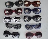 Wholesale jewelry lenses - 2018 New Ginger Snap Button Women Sunglasses Goggle Glasses Eyewear UV Protection Sunglasses Fit 18mm-20mm Snap button jewelry