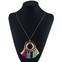 ingrosso collana colorata di stile della boemia-LZHLQ Tassel Collana Donna Collana lunga Boho Bohemian Accessori Colorful Vintage etnico stile punk gioielli di moda
