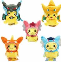 Wholesale pokemon video games for sale - Poke Figures Plush Dolls Toys Pikachu Cosplay Mega Charizard gyrados Stuffed Animal Dolls Children Toys Stuffed Animals Toy Doll KKA4115