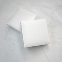 samt geschenkboxen für verpackung großhandel-Weißes Quadrat Schwarzer Samt Schmuck Display-Boxen Verpackung für Pandora Charms Stil Armband Halskette Originalverpackung Valentinstag Geschenkbeutel