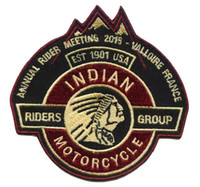 Wholesale china clubs - Indian 1901 Embroidery Patches Freedon Patches Riders Group USA for Jacket Motorcycle Club Biker 4 inch Made In China Factory