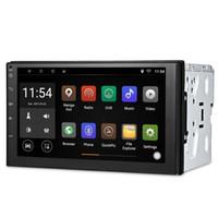 pantalla plateada al por mayor-Universal Android GPS Navegación Coche Reproductor de DVD 2 Din Bluetooth Pantalla táctil Coche Radio Estéreo Reproductor Multimedia Soporte Volante RDS