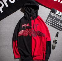 couple hoodies design achat en gros de-Hommes Femmes Couples Hoodies Hoodies Automne Nouveaux Hot Tops Sweatshirts Plume Eau Goutte Aile Design Pulls Hoodies